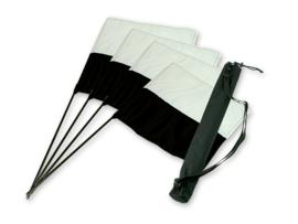 Markeervlaggen set zwart/wit (4 st.)
