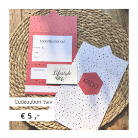 Cadeaubon | €5