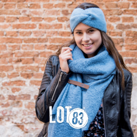 LOT83   Haarband Pip   Jeansblauw