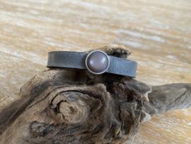 Armband 10 mm | Cabochon | Antraciet
