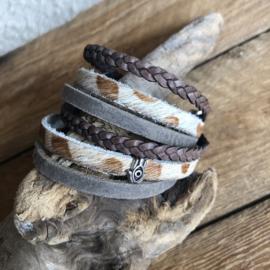 Wikkelarmband | Hammam | Taupe bruin