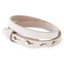 Cuoio lederen armband | Dubbel | Desert Dust Beige