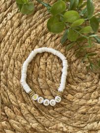 Armband | Beach | Wit goud