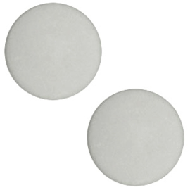 Slider Cabochon Polaris | Plat matt Light cloudy grey