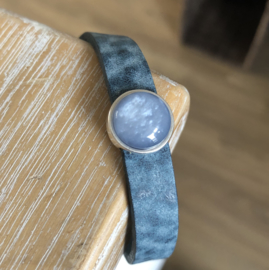 Armband Cabochon | Jeans blauw