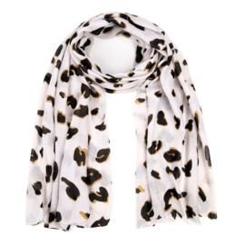Sjaal Cheetah | Wit