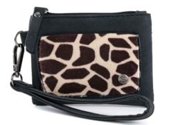 Kleine portemonnee   Giraf   Zwart