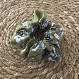 Scrunchie Bloem | Groen