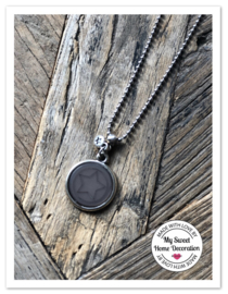 Ballchain Ketting Cabochon | Ster Taupe