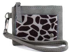 Kleine portemonnee   Giraf   Grijs