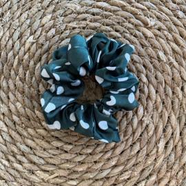 Scrunchie | Stippen | Groen