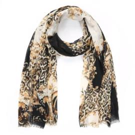Sjaal Leopard Chique | Zwart