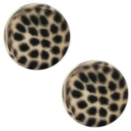Slider Cabochon Polaris | Plat Leopard Taupe Brown