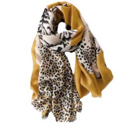 Sjaal Jardim Leopard | Oker