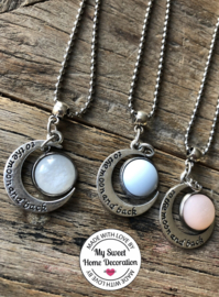 Ballchain ketting New Born - To the moon and back