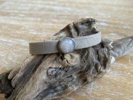 Armband 10 mm | Cabochon | Taupe