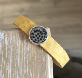 Armband 10 mm | Cabochon | Panter Geel