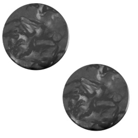 Slider Cabochon Polaris | Parelmoer Plat Lively Carbone Black