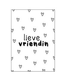 Wenskaart   Lieve vriendin   KP023
