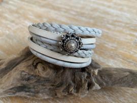Wikkelarmband | Zeeuwse Knop | Wit Zilver