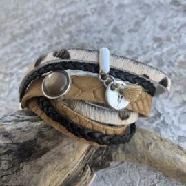 Wikkelarmband | Levensboom | Bruin