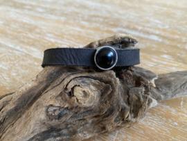 Armband 10 mm | Cabochon | Zwart