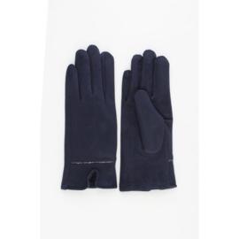 Handschoenen | Suèdelook | Donkerblauw