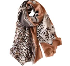 Sjaal Jardim Leopard | Bruin