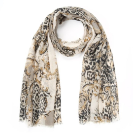 Sjaal Leopard Chique | Taupe