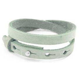 Cuoio lederen armband | Dubbel | Meadow Green