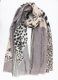 Sjaal Jardim Leopard | Grijs