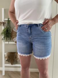 Jewelly | Korte broek | Denim Kanten randje
