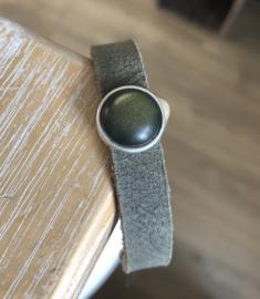 Armband Cabochon   Olijf groen
