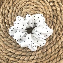 Scrunchie Dots | Wit