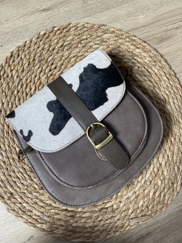 Saddle bag   Cow   Taupe