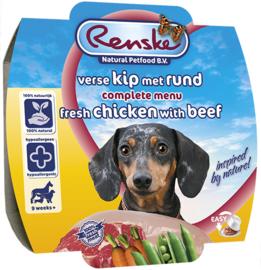 Renske | Gestoomde Versmaaltijd Kip & Rund | 100gr