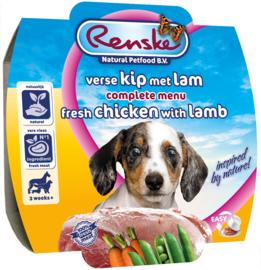 Renske | Gestoomde Versmaaltijd Kip & Lam puppy | 100gr