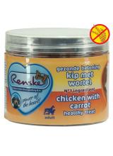 Renske | Gezonde Beloning Mini Hartjes Kip & Wortel | 100gr