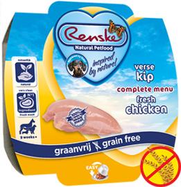 Renske | Gestoomde Versmaaltijd Kip graanvrij | 100gr