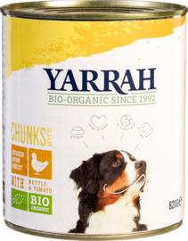 Yarrah | Biologische chunks kip | Blik 820gr