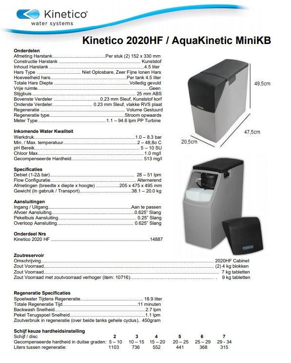 Kinetico Mach 2020c HF aquakinetic