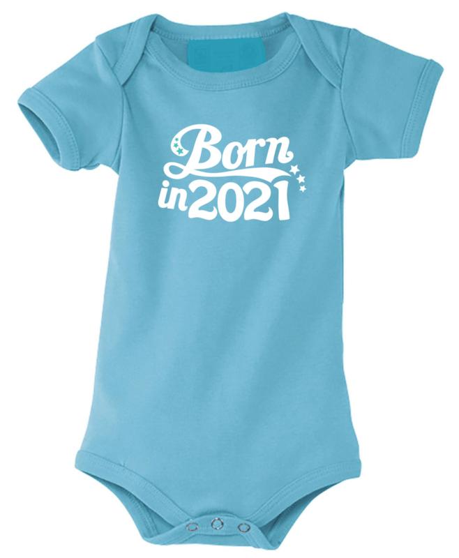 Romper Born in 2021 sterretjes