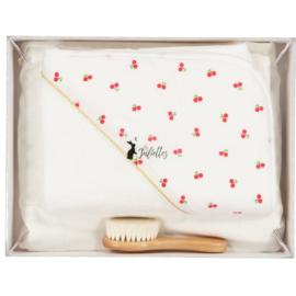 Luxe geschenkdoos - 3-delig wit- kersen