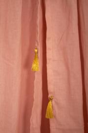 Roze kwaliteits klamboe met gouden kwastjes - Roommate