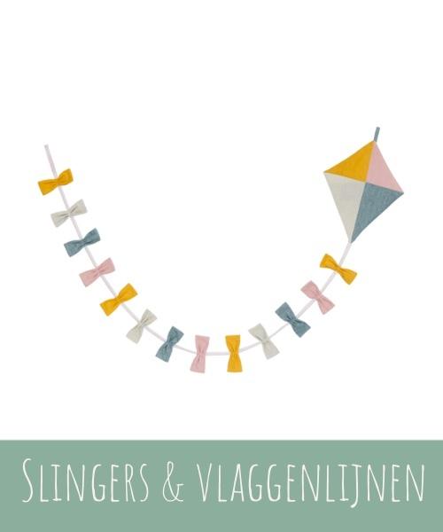 Vlaggenlijnen en slingers van duurzaam textiel