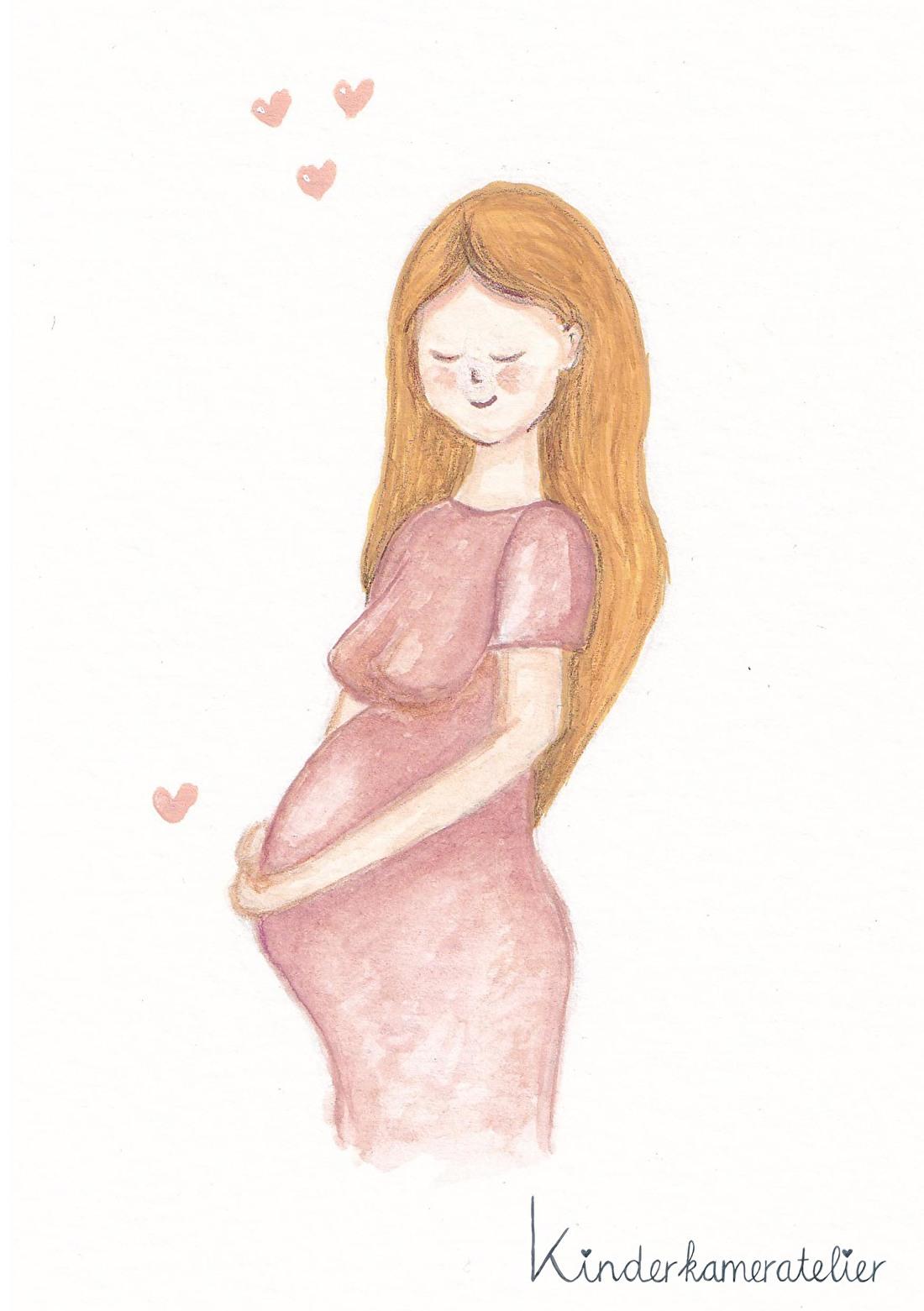 Kaartje zwanger