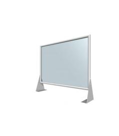Plexiglas beschermwand + frame 70x50cm