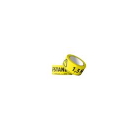 Vloertape geel Afstand houden 50mmx66m