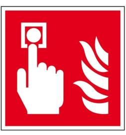 Pictogram brandmelder met vlam