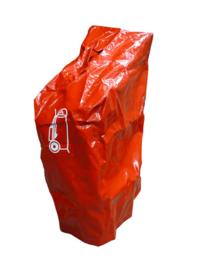 Hoes bluswagen 50 kg/50 liter rood